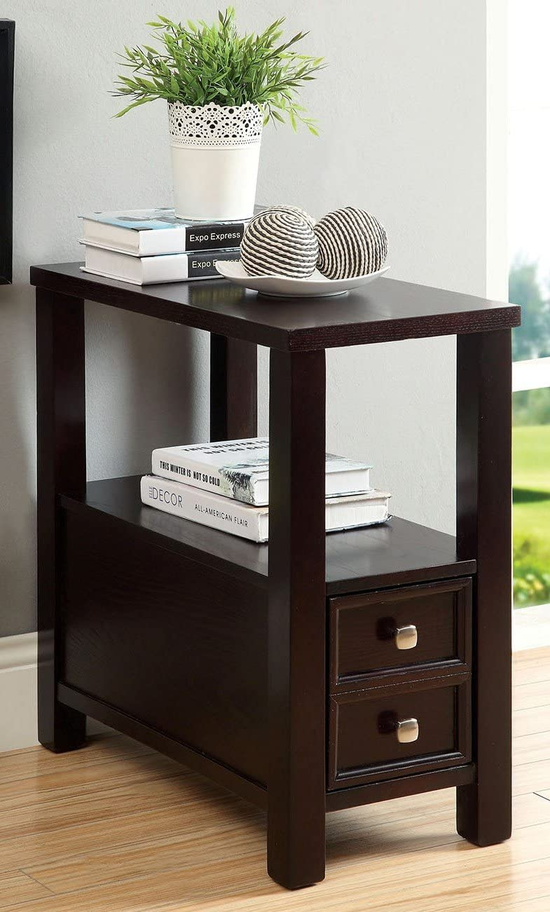 Furniture of America Lydle Drawer Side Table