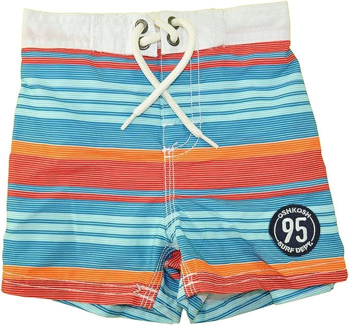 Osh Kosh Bgosh Baby Boys Infant Blue /& Orange Printed Swim Short