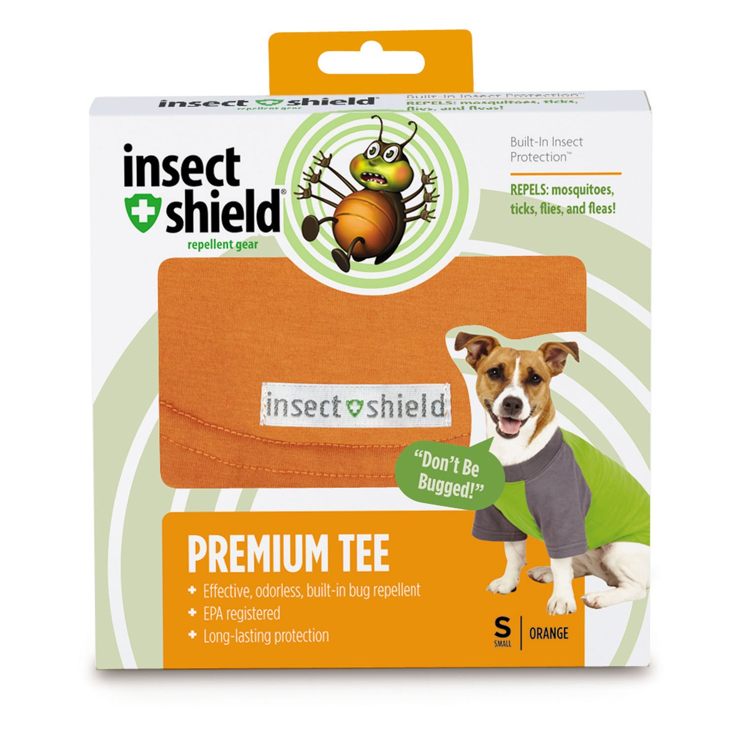 Amazon.com : Insect Shield Insect Repellant Premium T-Shirt for Protecting Dogs from Fleas, Ticks, Mosquitoes & More : Pet Supplies