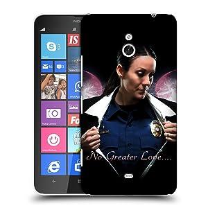 Official Jason Bullard No Greater Love Female Law Enforcement Hard Back Case for Nokia Lumia 1320