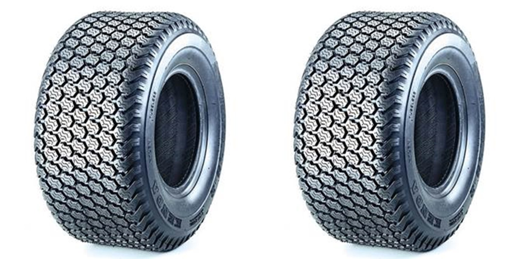 Set of 2 Super Turf Kenda Tires 24x9.5-12 24x9.5x12 K500 TURF TIRES TUBLESS 4PLY RATED