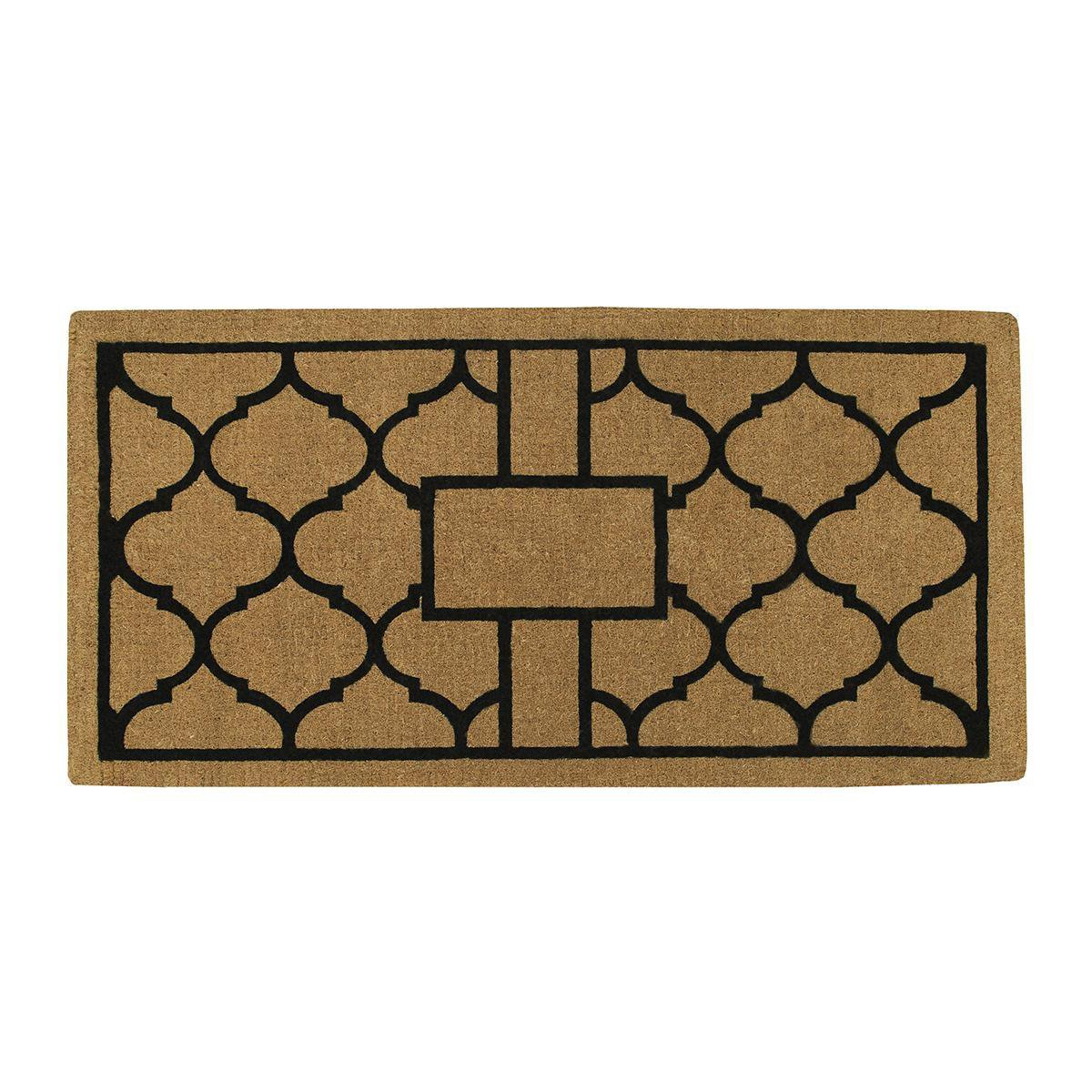 Home & More 18008PLAIN3672 Pantera Extra-Thick Doormat, 36'' x 72'' x 1.50'' , Natural/Black