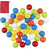 Crestgolf Plastic Golf Training Balls – Airflow Hollow 40mm Golf Balls for Driving Range, Swing Practice, Home Use,Pet Play.(