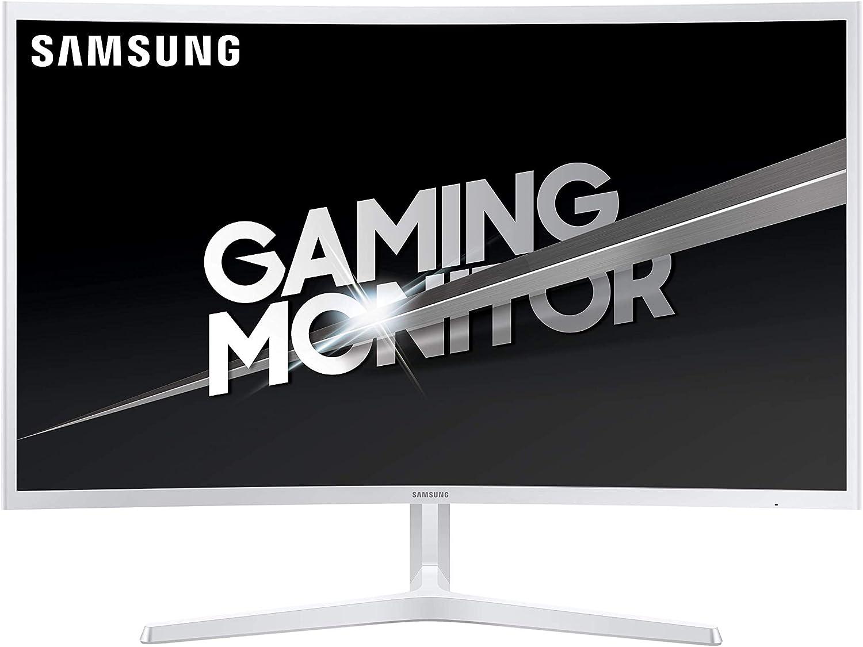 Samsung C32JG51 - Monitor Curvo Gaming de 32 (Full HD, 4 ms, 144 Hz, LED, VA, 16:9, 3000:1, 1800R, 250 cd/m², 178°, HDMI, Base en V) Blanco: Samsung: Amazon.es: Informática