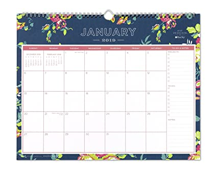 48db140481e Amazon.com : Day Designer for Blue Sky 2019 Monthly Wall Calendar ...