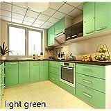 "Total Home Pvc Waterproof Bathroom Kitchen Backsplash Cabinet Vinyl Self Adhesive Wall Paper Countertop Wall Sticker (24"" X 118"" Inch) (Light Green)"