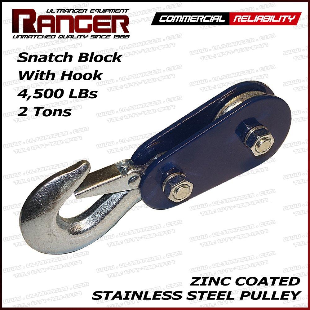 Ranger (2 Tons 4, 500 LBs) Commercial Reliability Hook Snatch Block by Ultranger 2TSN-H