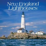 New England Lighthouses 2019 12 x 12 Inch Monthly Square Wall Calendar, USA United States of America East Coast Scenic Nature (Multilingual Edition)