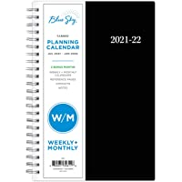 """Blue Sky 2021-2022 Academic Year Weekly & Monthly Planner, 5"""" x 8"""", Flexible Cover, Wirebound, Enterprise (130611)"""
