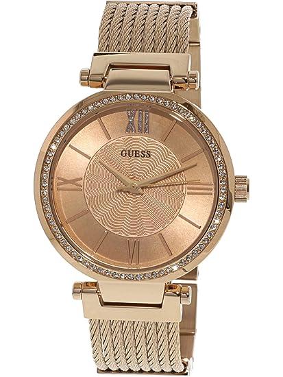 Soho Brazalete De Guess Rosado Oro Reloj Para Dama Acero D9eWEH2IYb
