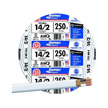 SOUTHWIRE COMPANY #28827455 250\' 14/2 W/G NM Cable - Electrical ...