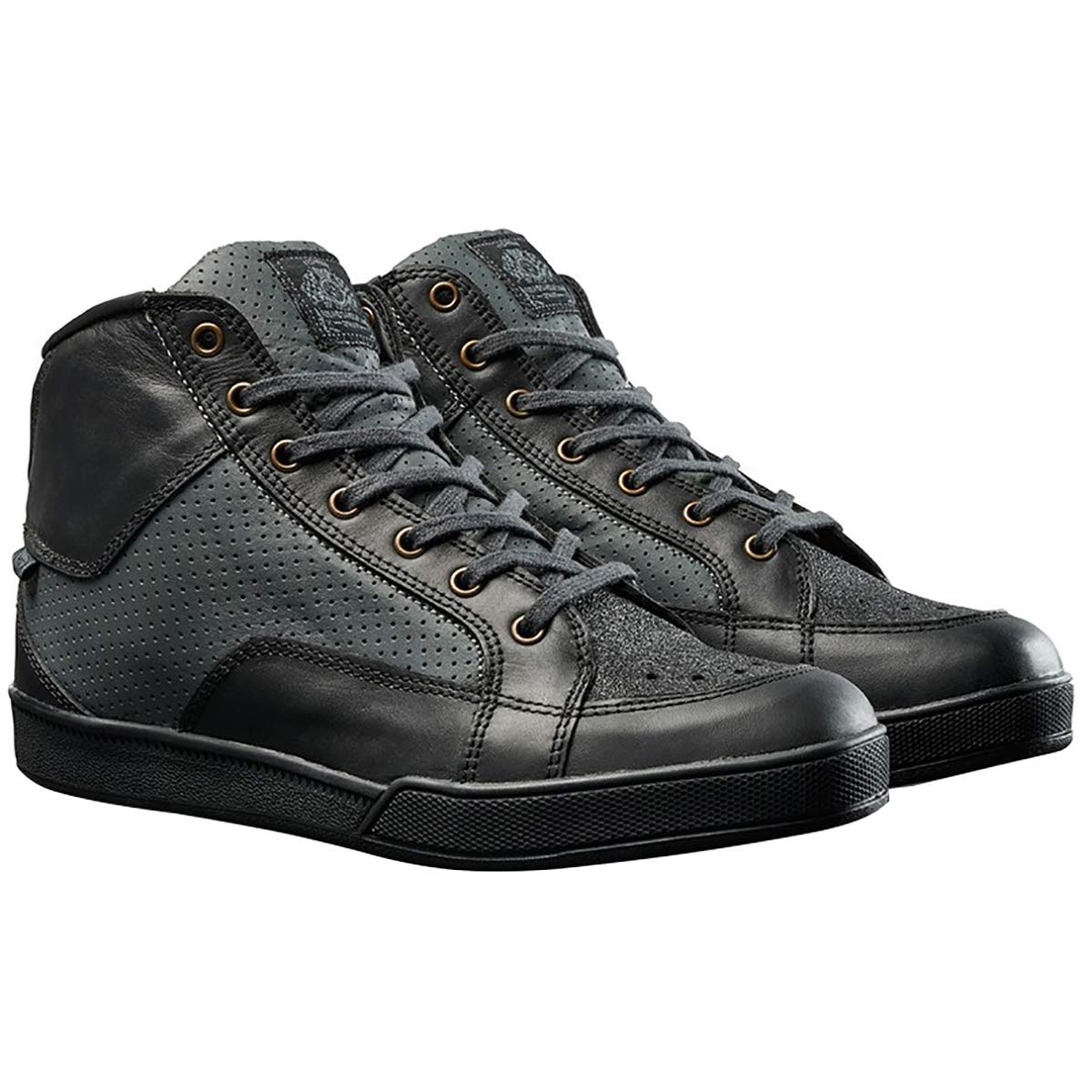 Roland Sands Design Fresno Perforated Men's Street Motorcycle Shoes - Black Charcoal / 10