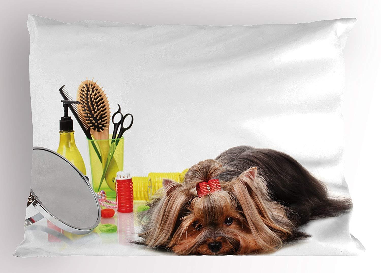 Amazoncom K0k2t0 Dog Lover Pillow Sham Cute Yorkshire Terrier