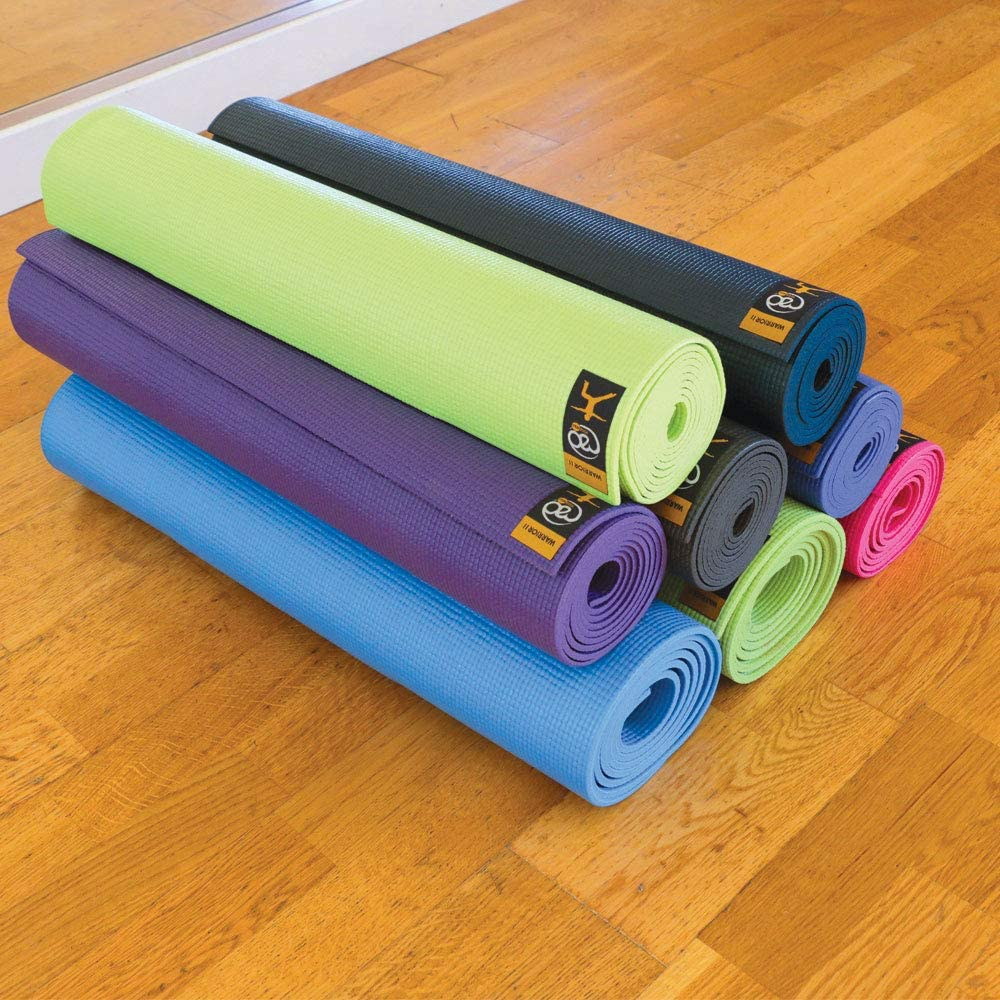 Yoga Mad Warrior II Mat Esterilla para Yoga//Pilates//Gimnasia 4mm Grafito Unisex Adulto