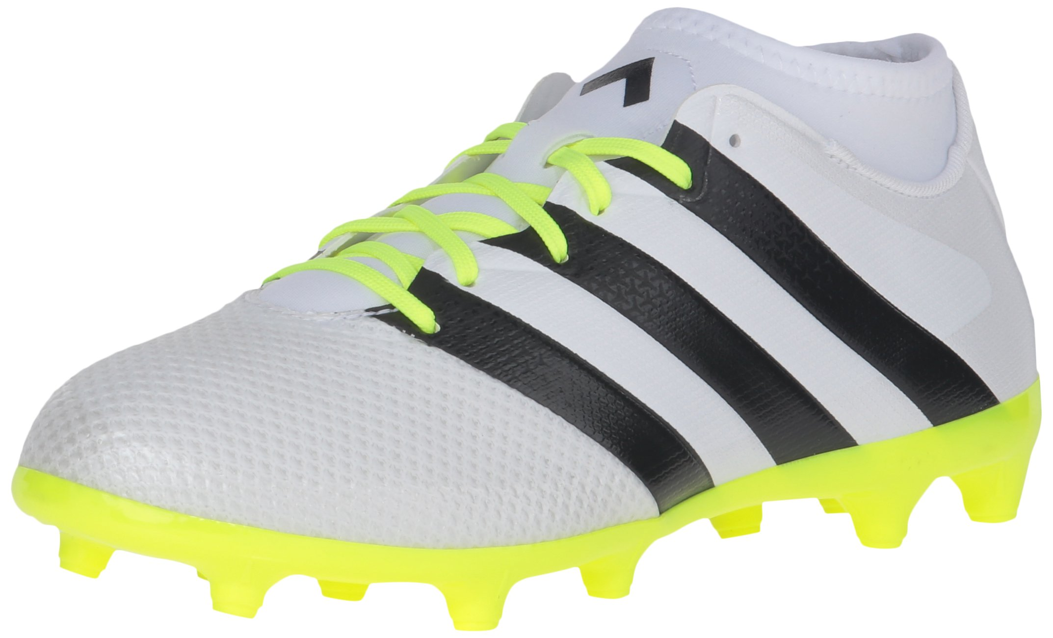 adidas Women's Ace 16.3 Primemesh FG/AG W Soccer Shoe, White/Black/Electricity, 9 M US by adidas (Image #1)