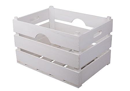 Basic House Ltd Bulk White Wooden Crate Storage Boxplantershelves