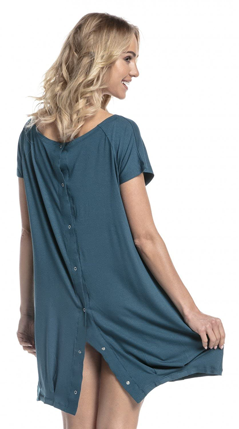 Happy Mama SLEEPWEAR レディース B077D9DW6D US 14/16|グリーン(Bottle Green) グリーン(Bottle Green) US 14/16