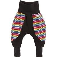 Lilakind Pantalones bombachos para bebé, diseño de rayas, multicolor