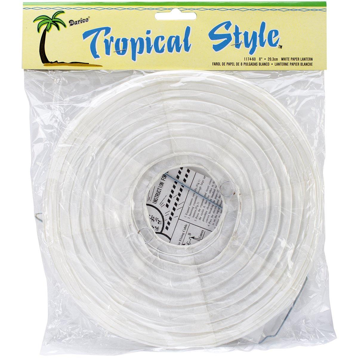 紙のランタン 1/Pkg、ホワイト 8