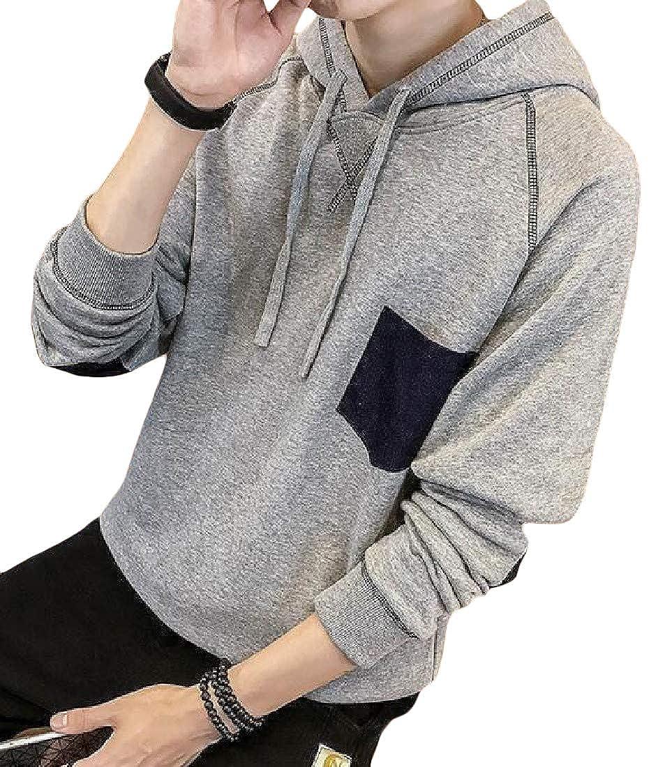 XTX Mens Stylish Raglan Sleeve Hooded Drawstring Pullover Sweatshirts