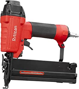 "Rrtizan Brad Nailer, 2-in-1 Pneumatic Nail Gun, 18-Gauge 3/8"" to 2"", Depth Adjustment, Longer Visual Nail Indicator Staple Gun for Upholstery and Home Improvement."