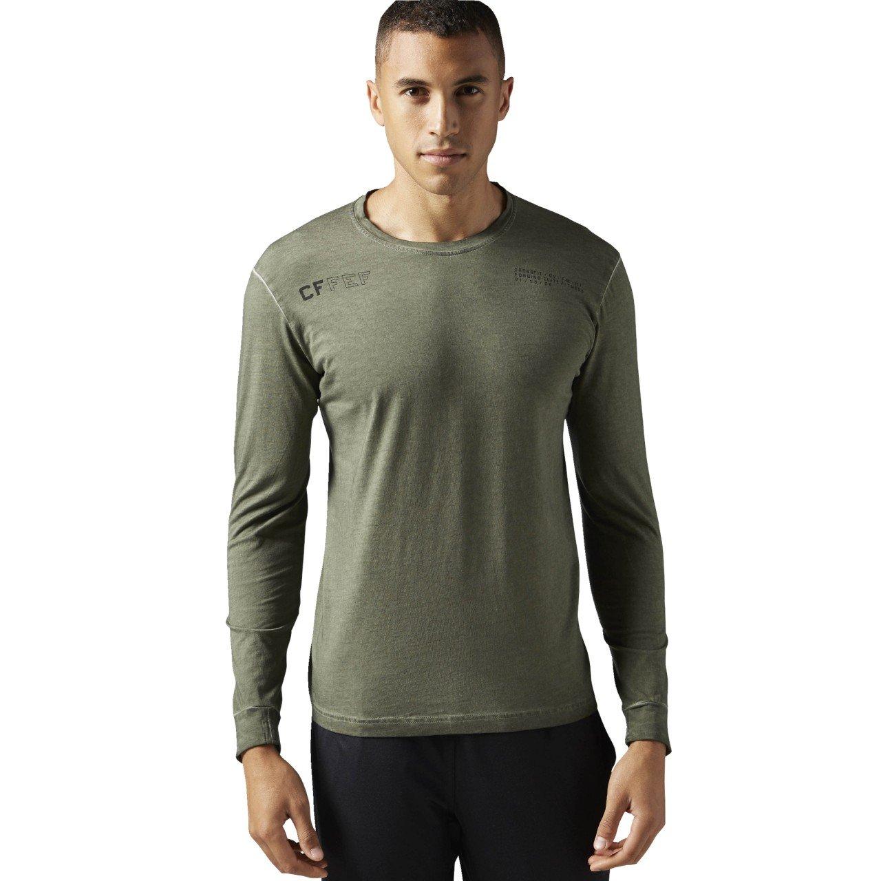 Reebok Herren RCF Washed Long Sleeve Langearmshirt