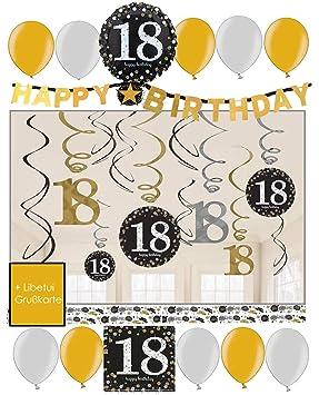 Libetui 18 Cumpleaños Decoración - Juego de decoración ...
