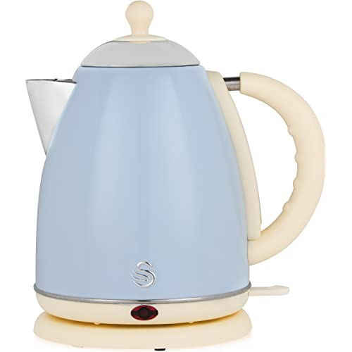 SWAN Jug Kettle 1.7 Litre Duck Egg Blue