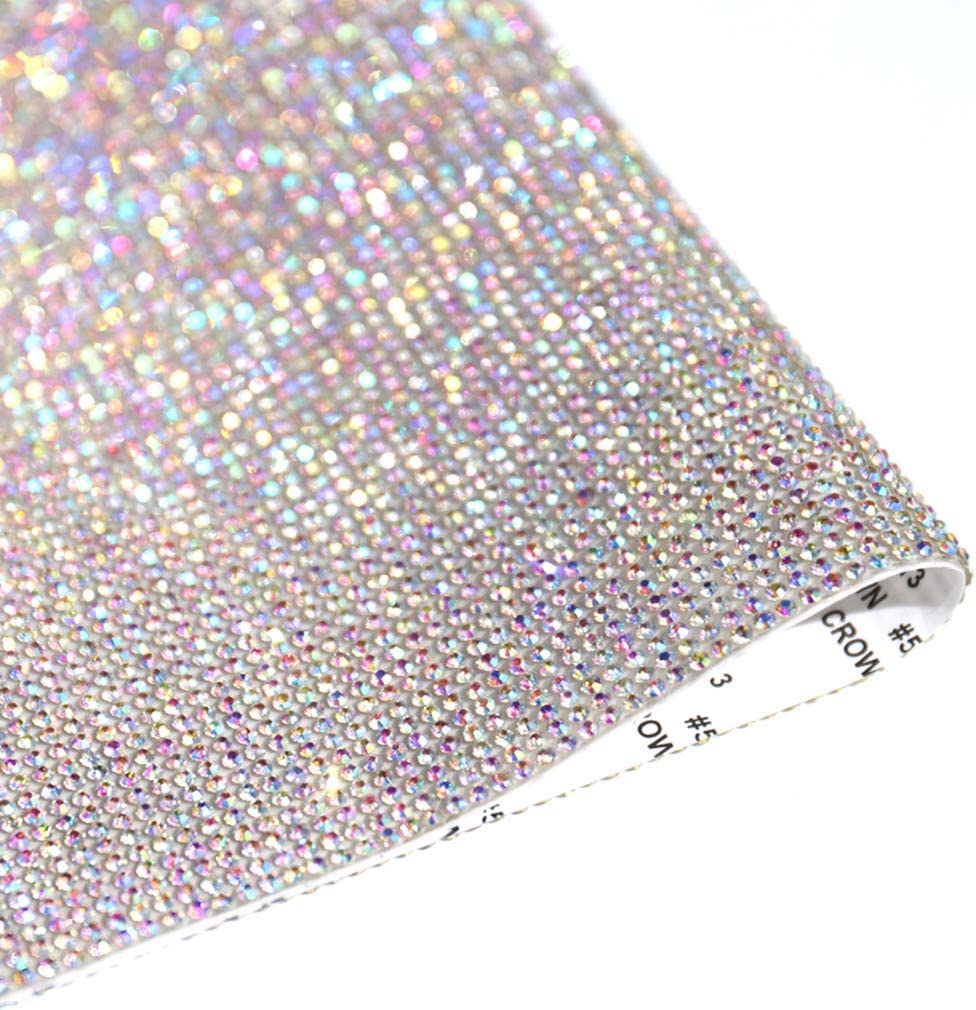DIY Bling Rhinestone Sticker Tape Self-Adhesive Decal Sheet Car Tablet Decor  U