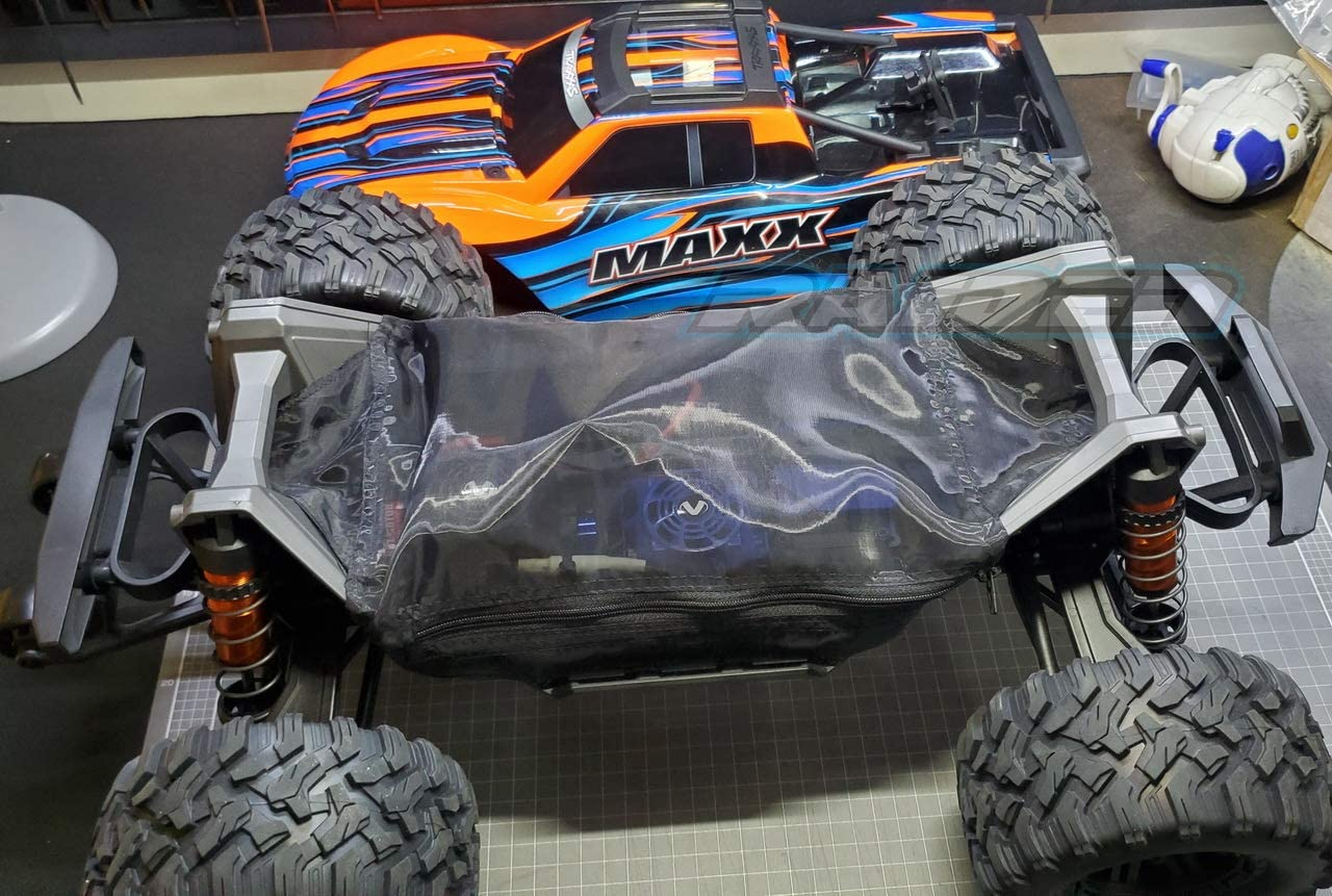 Resist Rocks Leaves Mud Sands Snow Raidenracing Chassis Guard Dirt Dust Resist Cover for Traxxas 1//10 New MAXX