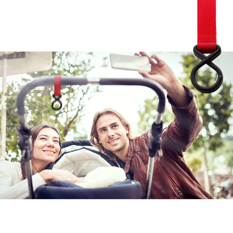 Karidge 12 Packs of Multi Purpose Hooks Stroller Hook Clothing, Hanger for Baby Diaper Bags Groceries 12 Pcs
