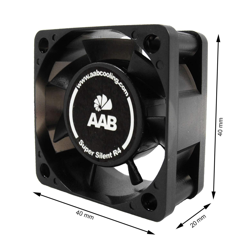AAB Cooling Super Silent R4 - un silencioso y muy efectivo 40mm ventilador con 4 bases antivibración: Amazon.es: Informática