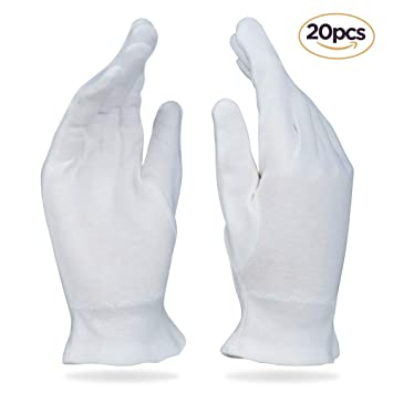 Amazon Com Beauty Care Wear Medium White Cotton Gloves For Eczema