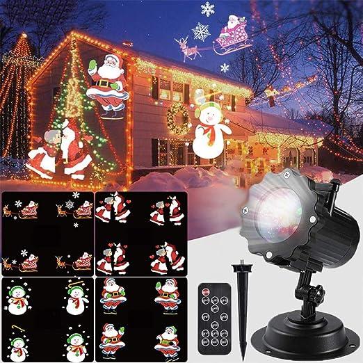 Luces De Navidad Led Dinámicas 12 Patrones Proyector Lámpara De ...
