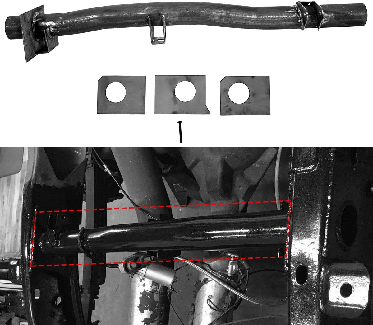 Front and Rear Fuel Tank Support Crossmember For 1999-2006 Chevrolet Silverado