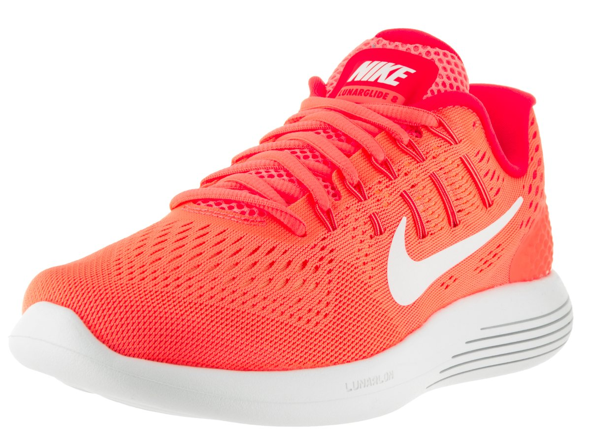 NIKE Womens Lunarglide 8 Runing Trainers 843726 Sneakers Shoes B01HZHCNP0 7.5 B(M) US|Bright Mango White 800