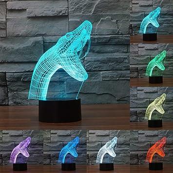 Amazon.com: superniudb nuevo tipo 3d Snake Luz Nocturna ...