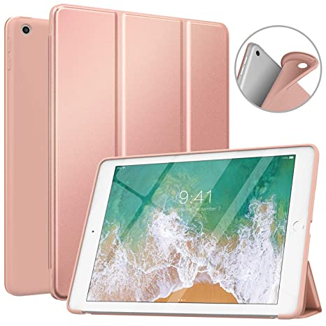 MoKo Case Fit 2018/2017 iPad 9.7 6th/5th Generation, Slim Smart Shell Stand Folio Case with Soft TPU Back Cover Compatible with Apple iPad 9.7 Inch ...