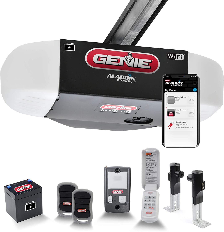 Genie StealthDrive Connect Model 7155-TKV Smartphone-Controlled Ultra-Quiet Strong Belt Drive Garage Door Opener