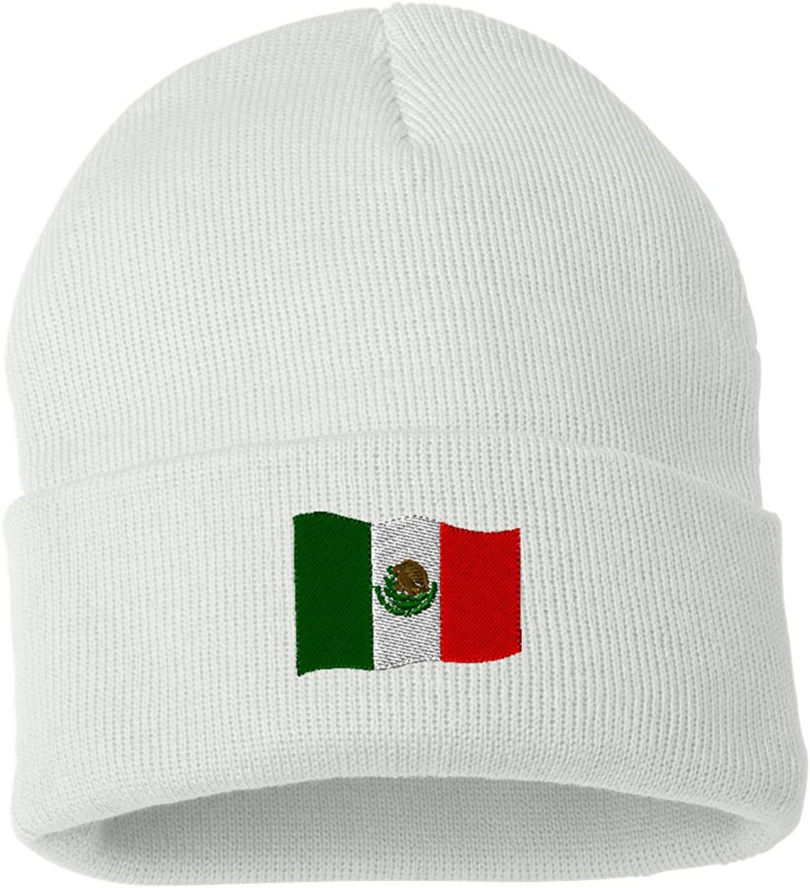 Mexico Flag Custom Personalized Embroidery Embroidered Beanie