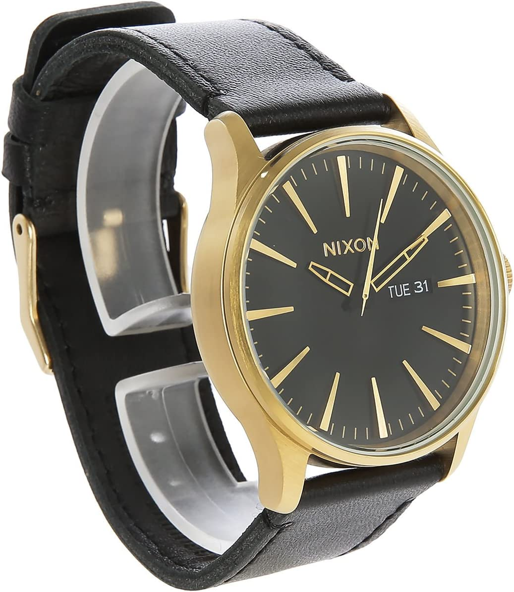 NIXON Sentry Leather -Spring 2017- Gold/Black