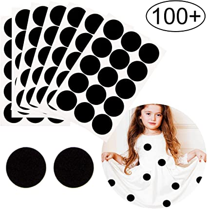 300 Pieces Black Adhesive Felt Circles Round Felt Pads DIY Circle Felt Self Adhesive Felt Pad for Halloween DIY Craft Projects Costume Decor 1//2 Inch, 1 Inch, 1.5 Inch