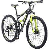 Schwinn Traxion Mountain Bike, Full Dual Suspension, 29-Inch Wheels , Blue/grey