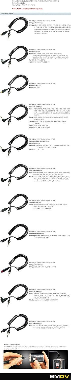 SMDV RFN-4 Release Cable RC-910 for Olympus RM-CB1 E-5//E-3//E-1//E-20//E-10//E-100RS