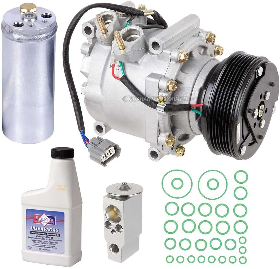 Amazon.com: AC Compressor & A/C Kit For Honda Civic 1.7L 2002 2003 2004  2005 w/ 3-Wire Connector - BuyAutoParts 60-80229RK New: AutomotiveAmazon.com