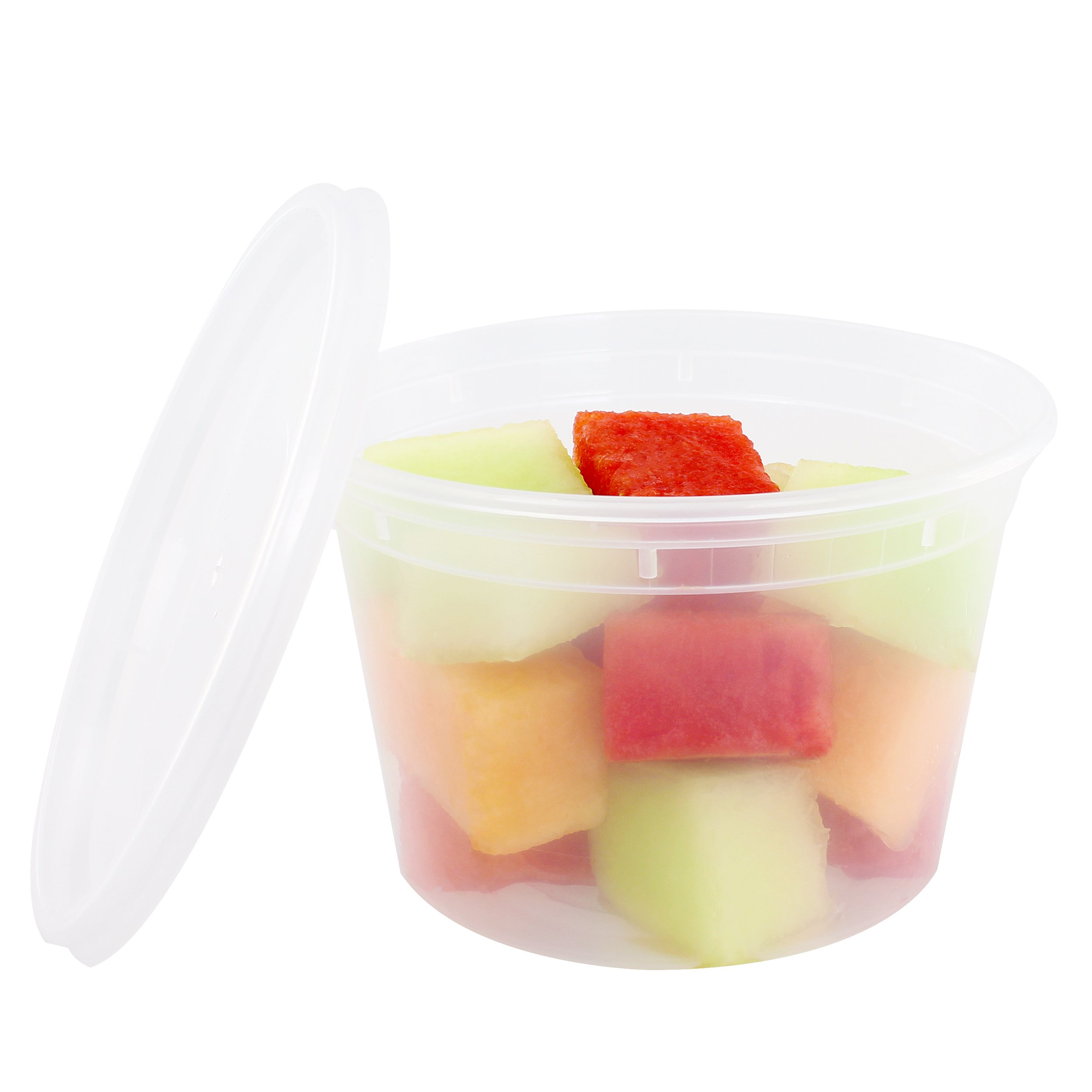 Freshware Food Storage Containers with Lids [36 Pack, 16oz] - Plastic Containers, Deli, Slime, Soup, Meal Prep Containers | BPA Free | Stackable | Leakproof | Microwave/Dishwasher/Freezer Safe by Freshware (Image #3)