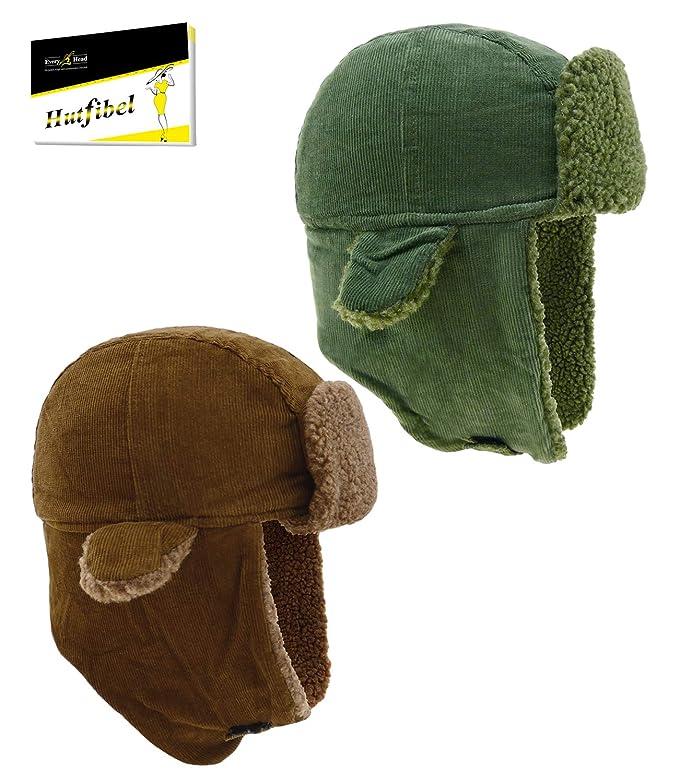 EveryHead - Cappello aviatore - Tinta unita - Uomo marrone Circa e08b07dce2d1