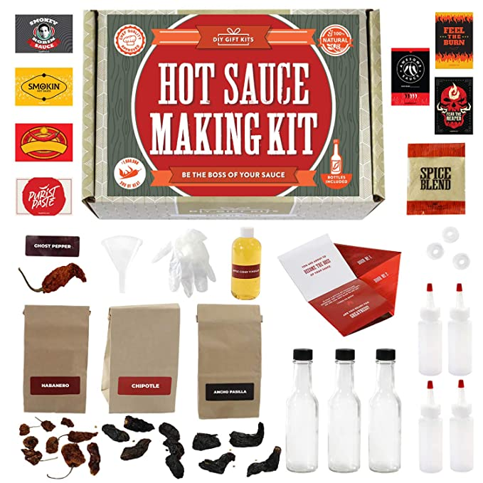 Hot Sauce Kit - Full Set Of Recipes & Storing Bottles!
