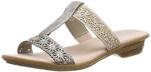 | Rieker Womens Pantolette F rosa (42) | Sandals