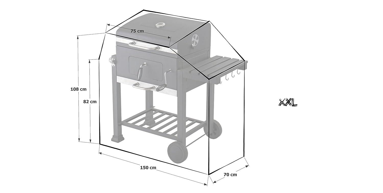 Schutzhulle Grillabdeckung Zu Tepro Toronto Xxl Grill 150x70x108cm